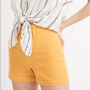 Madewell Emmett Twill Short- Gold, Yelllow/ 29, 30